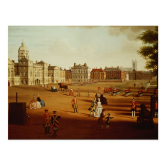 Das 2. Footguards auf Parade am Pferdeschutz Postkarte