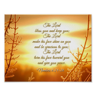 Das 6:24 Lords Bless You Numbers - 26 Bibel-Vers Poster