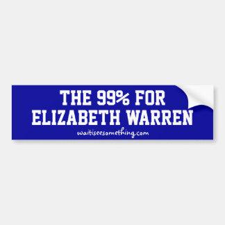 Das 99% für Elizabeth Waren Autoaufkleber