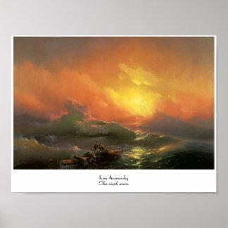 Das 9. Meerblick Welle Iwans Aivasovsky waterscape Plakatdruck