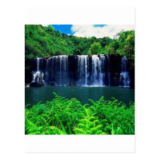 Das abgeschlossene Wasser fällt Kauai Postkarte