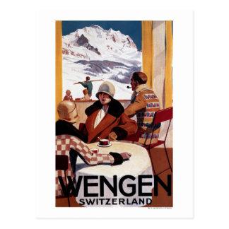 Das abschüssiger Verein-fördernde Plakat Postkarten