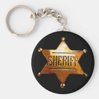 Das Abzeichen-Schwarzes Keychain des Sheriffs (in Schlüsselanhänger