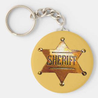 Das Abzeichen TAN Keychain des Sheriffs (in 3 Schlüsselanhänger