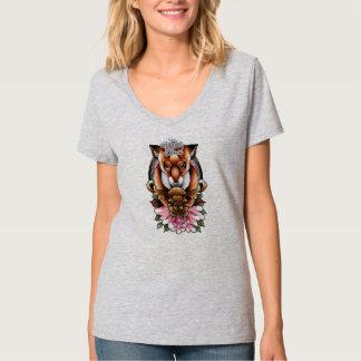 Das adrette tote V - Hals T-Shirt