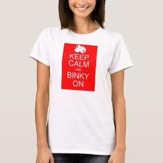 Das AJ Baby behalten Ruhe und Binky an T-Shirt