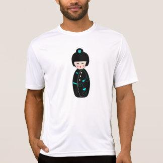 Das aktive T-Stück der Geisha-Cartoon-Männer T-Shirt
