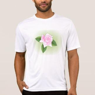 Das aktive T-Stück der rosa Rosen-Männer T-Shirt