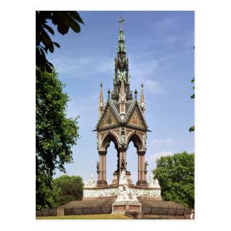 Das Albert-Denkmal vom Albert Hall Postkarte