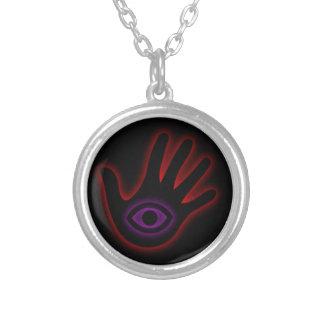 Das alles sehende Auge illuminati Versilberte Kette