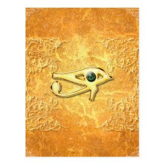 Das alles sehende Auge mit dem Auge gemacht vom Postkarte