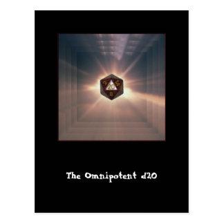 Das allmächtige d20 - Postkarte