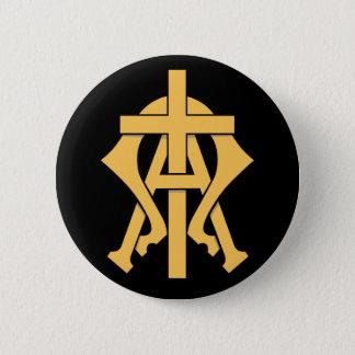 Das Alpha u. das Omega Runder Button 5,1 Cm