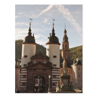 Das Alte Brucke in der alten Stadt, Heidelberg, Postkarte