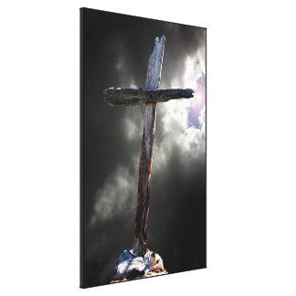 Das alte schroffe Kreuz Leinwanddruck