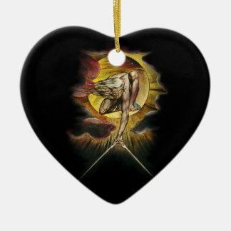 Das alte von Tagen Keramik Herz-Ornament