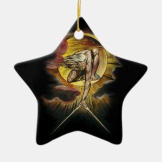 Das alte von Tagen Keramik Stern-Ornament