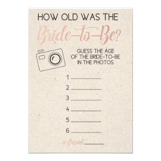 Das Alter der Brautparty-Spiel-Vermutungs-Braut 12,7 X 17,8 Cm Einladungskarte