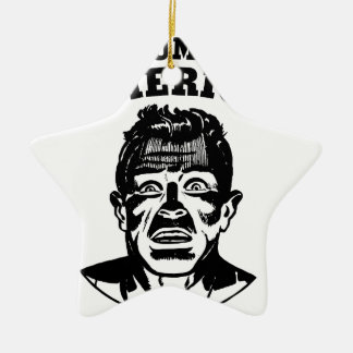 Das Amerika des Trumpfs Keramik Stern-Ornament