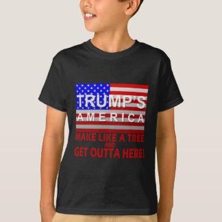 Das Amerika des Trumpfs - machen Sie wie ein Baum T-Shirt
