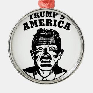 Das Amerika des Trumpfs Silbernes Ornament