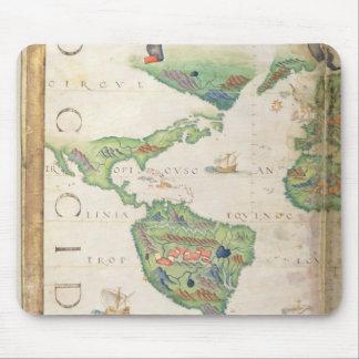 Das Amerika, Detail von Weltatlas, 1565 Mousepads
