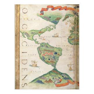 Das Amerika, Detail von Weltatlas, 1565 Postkarten