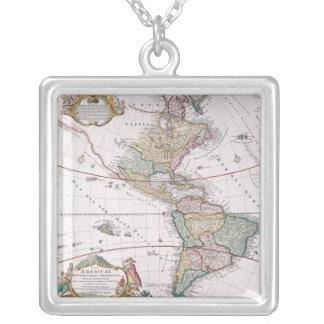 Das Amerika Halskette Mit Quadratischem Anhänger