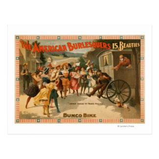 Das amerikanische Burlesquers 15 Schönheits-Spiel Postkarte