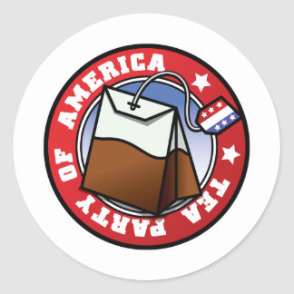 Das amerikanische Tee-Party Runde Aufkleber