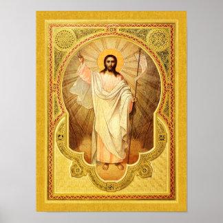 Das Anastasis - Christus wird gestiegen! Poster