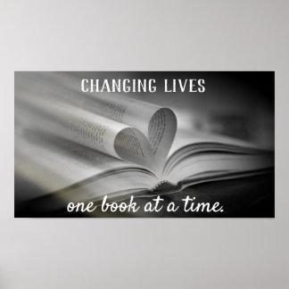 Das Ändern lebt ein Buch-auf einmal Plakat