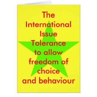 Das Angelegenheits-Toleranz-Stern-Grün-lt Karte