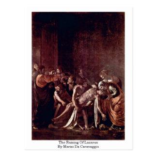 Das Anheben von Lazarus durch Merisi DA Caravaggio Postkarte