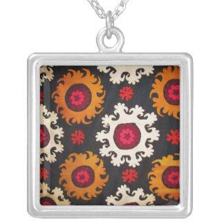 Das antike Osmane-Stickerei-Türkische Halskette Mit Quadratischem Anhänger