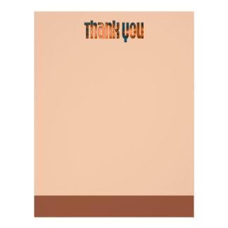 das aquamarine biege danken Ihnen Custom Flyer