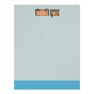 das aquamarine biege danken Ihnen Flyer Druck