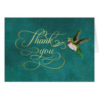 Das aquamarine Kolibri-Gold danken Ihnen Karte