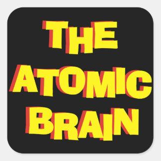 Das Atomgehirn Quadratischer Aufkleber
