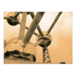 Das Atomium Brüssel Postkarte