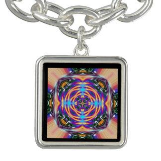 Das Atommuster für Leben-Mandala Charm Armband