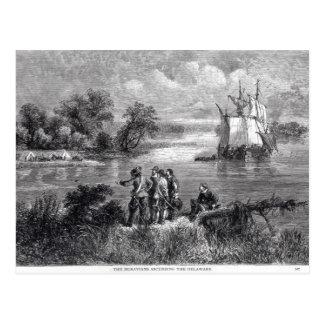 Das aufsteigende Moravians das Delaware Postkarte