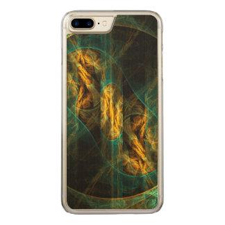 Das Auge der Dschungel-abstrakten Kunst Carved iPhone 8 Plus/7 Plus Hülle
