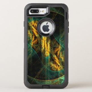 Das Auge der Dschungel-abstrakten Kunst OtterBox Defender iPhone 8 Plus/7 Plus Hülle