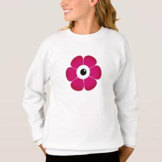 das Auge der rosa Blume Sweatshirt