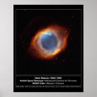 """""""Das Auge des Gottes"""" Schneckennebelfleck Hubble Poster"""