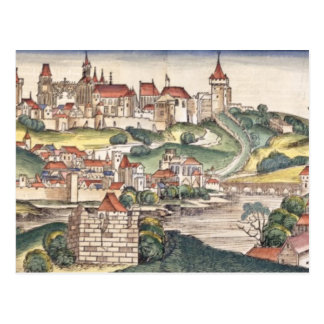 Das Augen-Ansicht des Vogels von Prag vom Nürnberg Postkarte