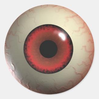 Das Augen-Aufkleber des roten Teufels