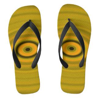 Das Augen-Gelb des Drachen Flip Flops