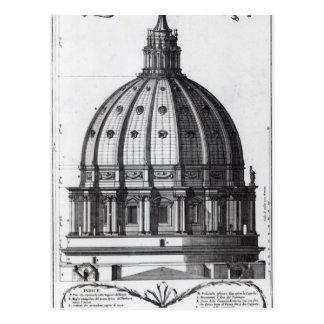 Das Äußere der Haube von St Peter, Rom Postkarte